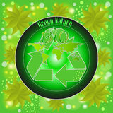 Etiquetas de Eco com projeto Foto de Stock