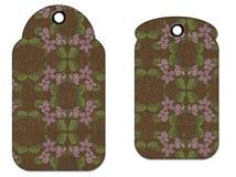 Etiquetas de Grunge de la flor Imágenes de archivo libres de regalías