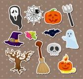 Etiquetas de Halloween Foto de Stock Royalty Free