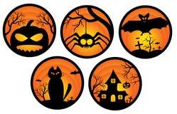 Etiquetas de Halloween Imagens de Stock Royalty Free