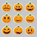 Etiquetas de Halloween - abóbora Imagem de Stock