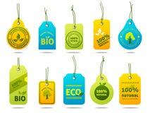 Etiquetas de la cartulina de la ecología Imagen de archivo libre de regalías