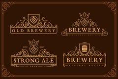 Etiquetas de la cervecería Imagen de archivo libre de regalías