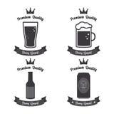 Etiquetas de la cerveza Fotos de archivo libres de regalías