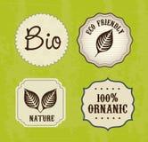 Etiquetas de la ecología Fotografía de archivo libre de regalías