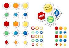 Etiquetas de la estrella Imágenes de archivo libres de regalías