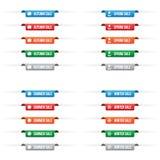 Etiquetas de la etiqueta del papel de la venta de la estación Imagen de archivo libre de regalías