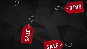 Etiquetas de la etiqueta de la venta que caen abajo animación de HD libre illustration
