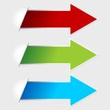 Etiquetas de la flecha Imagenes de archivo