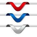 Etiquetas de la flecha - paperclip al borde del PA del web Imagenes de archivo
