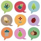 Etiquetas de la naturaleza Imagen de archivo libre de regalías