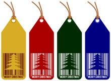 Etiquetas de la Navidad Imagen de archivo libre de regalías