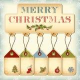 Etiquetas de la Navidad Foto de archivo libre de regalías