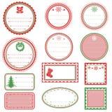Etiquetas de la Navidad Imágenes de archivo libres de regalías