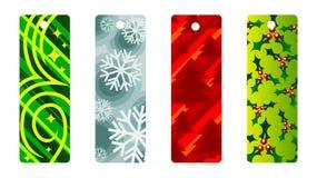 Etiquetas de la Navidad libre illustration
