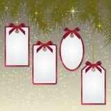 Etiquetas de la Navidad Fotografía de archivo