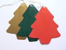 Etiquetas de la Navidad Fotografía de archivo libre de regalías