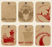 Etiquetas de la Navidad fijadas Foto de archivo libre de regalías