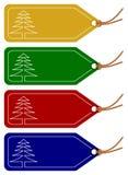 Etiquetas de la Navidad o del invierno Fotos de archivo