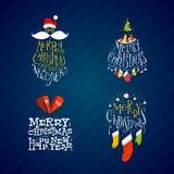 Etiquetas de la Navidad y del Año Nuevo Fotografía de archivo