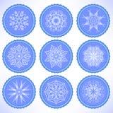 Etiquetas de la nieve del invierno libre illustration