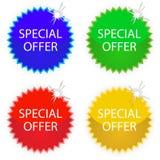 Etiquetas de la oferta especial stock de ilustración