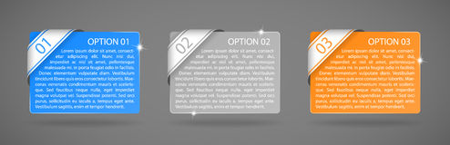 Etiquetas de la opción del papel del color del vector Fotografía de archivo