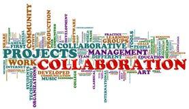 Etiquetas de la palabra de la colaboración ilustración del vector
