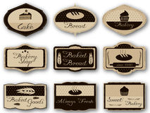 Etiquetas de la panadería Imagen de archivo libre de regalías