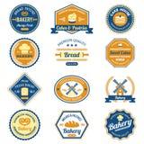 Etiquetas de la panadería de la magdalena Fotografía de archivo
