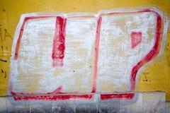 Etiquetas de la pintada Foto de archivo