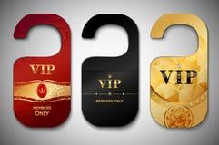 Etiquetas de la puerta del Vip fijadas Fotos de archivo libres de regalías
