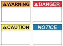 Etiquetas de la seguridad Libre Illustration