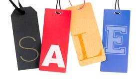 Etiquetas de la venta Foto de archivo libre de regalías