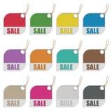 Etiquetas de la venta stock de ilustración
