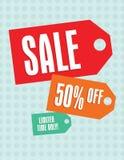 Etiquetas de la venta Imagen de archivo libre de regalías