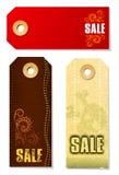 Etiquetas de la venta Fotografía de archivo