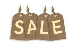 Etiquetas de la venta aisladas en blanco Fotografía de archivo libre de regalías