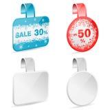 Etiquetas de la venta de la Navidad stock de ilustración