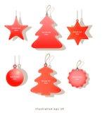 Etiquetas de la venta de la Navidad Foto de archivo libre de regalías