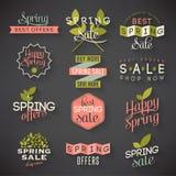 Etiquetas de la venta de la primavera Imagen de archivo libre de regalías