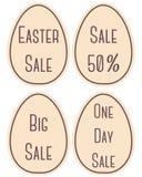 Etiquetas de la venta de Pascua Fotografía de archivo