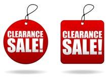 Etiquetas de la venta de separación Imágenes de archivo libres de regalías