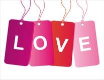Etiquetas de la venta del día de tarjeta del día de San Valentín del St. Fotografía de archivo libre de regalías