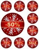 Etiquetas de la venta del invierno Imagen de archivo libre de regalías