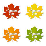 Etiquetas de la venta del otoño Imágenes de archivo libres de regalías