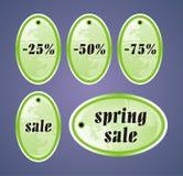 Etiquetas de la venta del resorte Imagenes de archivo