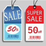Etiquetas de la venta del vector stock de ilustración