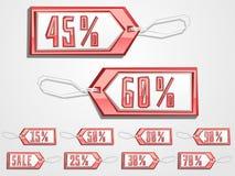 Etiquetas de la venta del vector fijadas Fotografía de archivo libre de regalías