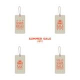 Etiquetas de la venta del verano stock de ilustración